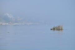 Duża mgła na Jeziornym Ontario, brać w Rochester Obraz Royalty Free