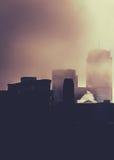 Duża miasto mgła obraz stock