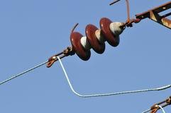 DUŻA MOC ELEKTRYCZNEGO kabla izolator zdjęcie stock