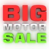 Duża motorowa sprzedaż 3D ilustracja wektor