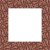 Duża mozaiki rama w eleganckich przyzwoicie kolorach Zdjęcia Stock