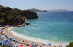 Duża otoczak plaża obrazy royalty free