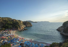 Duża otoczak plaża, Kasa, Turcja zdjęcia stock