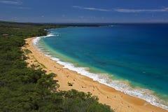 Duża plaża, Oneloa plaża, południowy Maui, Hawaje, usa Obraz Royalty Free