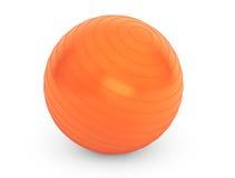 Duża pomarańczowa piłka dla sprawność fizyczna szczegółu Fotografia Royalty Free