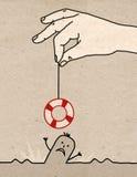 Duża ręka - ratunek royalty ilustracja