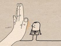 Duża ręka z postać z kreskówki - przerwy Szyldowy obszycie mężczyzna royalty ilustracja