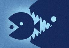 Duża ryba je małego Zdjęcia Stock