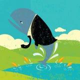 Duża ryba w Małym stawie royalty ilustracja