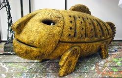 Duża rybia rzeźba Zdjęcie Stock