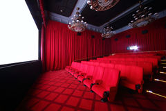 Duża sala kino w dziąśle Zdjęcie Royalty Free