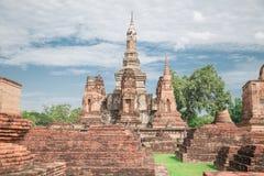 Duża stara świątynia i piękny tło Fotografia Stock