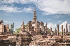 Duża stara świątynia i piękny tło Obrazy Stock