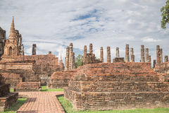Duża stara świątynia i piękny tło Zdjęcie Stock