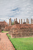 Duża stara świątynia i piękny tło Obraz Stock