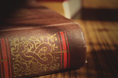 Duża stara książka w stole Obraz Royalty Free