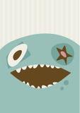 Duża Szczęśliwa potwór ilustracja Obrazy Royalty Free