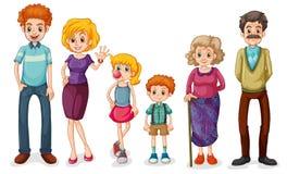 Duża szczęśliwa rodzina royalty ilustracja