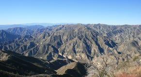 Duża Tujunga jaru panorama zdjęcia stock