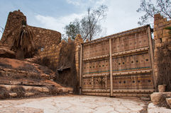 Duża wejściowa fortyfikacja w Riyadh i palissade, Arabia Saudyjska Zdjęcia Stock