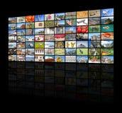 Duża wideo ściana TV ekran obrazy stock