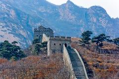 Duża wieża obserwacyjna Porcelanowy wielki mur Fotografia Royalty Free