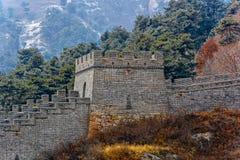 Duża wieża obserwacyjna Porcelanowy wielki mur Zdjęcie Royalty Free