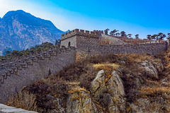 Duża wieża obserwacyjna Porcelanowy wielki mur Zdjęcia Stock