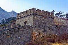 Duża wieża obserwacyjna Porcelanowy wielki mur Zdjęcia Royalty Free