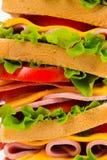 Duża wyśmienicie kanapka Obrazy Royalty Free