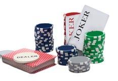 Duża wygrana przy partią pokeru Fotografia Royalty Free