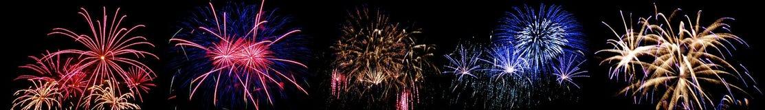 Duża wysokość fajerwerki zdjęcie royalty free
