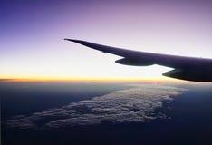Duża Wysokość Jutrzenkowy widok Od Dżetowego samolotu zdjęcia stock