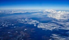 Duża Wysokość Krajobrazowy widok Od Dżetowego samolotu zdjęcia stock