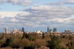 duże chmury nad Sacramento zdjęcia royalty free
