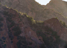 Duże chyłu parka narodowego Chisos góry obrazy royalty free