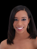 duże czarne ładne kobiety young uśmiech Zdjęcie Royalty Free
