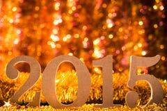 Duże drewniane liczby 2015 Zdjęcia Royalty Free