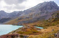 duże krajobrazowe halne góry altai fotografia stock