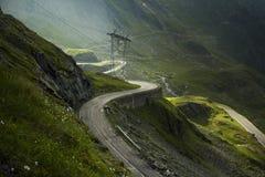 duże krajobrazowe halne góry transfagarasan Carpathians droga fotografia royalty free