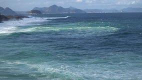 Duże oceanu lub morza fala zbiory wideo