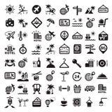 Duże podróży ikony ustawiać ilustracji