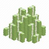 Duże rozsypisko rolki pieniądze zdjęcie stock