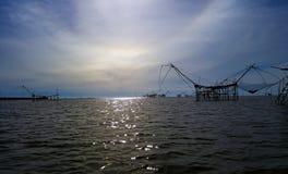 Duże rybie dźwignięcie sieci Obrazy Stock