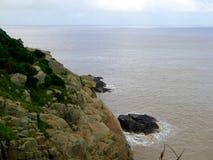 Duże skały w górze Putuo Fotografia Stock