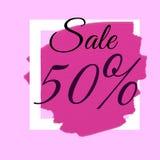 Duże sprzedaży etykietki z sprzedaż procentu tekstem na okrąg etykietkach Zdjęcie Stock