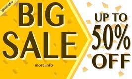 Duże sprzedaży etykietki z sprzedaż procentu tekstem na okrąg etykietkach Obraz Royalty Free
