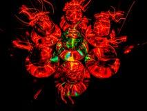 Duże Złe Wielkie kule ognie zdjęcie royalty free