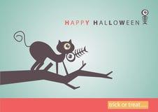 Dużego oka sztuki Halloweenowy tło eps10 Zdjęcia Royalty Free