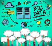 Dużego przechowywania danych technologii bazy danych Online pojęcie Fotografia Stock